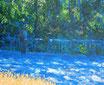 Kahlaische Strasse - Format: 24 x 30 cm - Acryl auf Leinwand