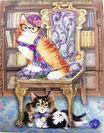PS Memopad *42374「LIBRRY CAT」