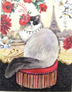 PS Memopad *42376 「PARIS CATS」