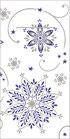Besteck-Serviette Cristal blau-silber 82789
