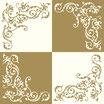 Servietten Airlaid - Pomp crème-gold 44530