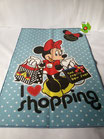 "Tappeto Disney ""Minnie Shopping"" antiscivolo 80x120 cm. A360"