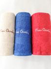 Set 3+3 asciugamani viso e ospite di Pierre Cardin. Art.Basic in spugna. B51