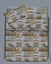 Set lenzuola in pile con stampa digitale 3D completo matrimoniale due piazze. B19