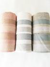 Set 3+3 asciugamani viso e ospite di Maestri Cotonieri . Art.Puntino in spugna. B521