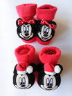Scarpine calzino neonato natalizio ricamato Disney. C102_