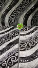 Set parure tappeto + scendiletto 3 pezzi rettangolare lurex disegno ondulare. B166