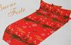 Set lenzuola in pile con stampa digitale 3D natalizia matrimoniale. Dis. Candele Natalizie. B664_