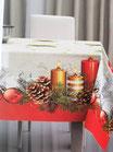 Tovaglia o copritavola natalizia con stampa digitale 3D per 6 persone 140x180 cm. B732