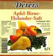 Apfel-Birne-Holunder-Saft (0,7l)
