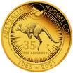100 AUD Känguru 2021 PP 5 Oz Gold