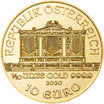 Wiener Philharmoniker 2021 Gold 1/10 Oz