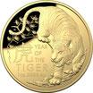 100 AUD Lunar Tiger 2022 Gold RAM