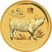 Lunar II Schwein 1 Oz Gold