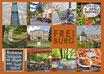 Postkarte FR Dutzend orange