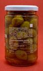 Olives vertes cassées pimentées