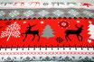 Weihnachtliche Muster, rot