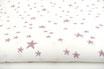 Kleine,gemischte Sterne flieder auf weiß