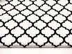 Canvas, Quatrefoil, schwarz auf weiß
