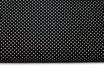 Polka, Punkte, weiß auf schwarz, 2 mm
