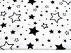 Schwarze, gemischte Sterne auf weiß