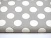 Canvas, große Polka Dots grau