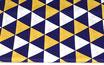 Dreiecke, gelb-blau-weiß