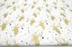 Goldene, glitzer Hirsche auf weiß, Weihnachten