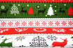 Weihnachtliche Muster, grün