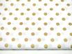 Polka Dots, gold glitzer, 15 mm