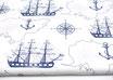 Segelboot, Schiff, dunkelblau auf weiß