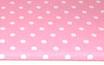 Polka, Punkte, weiß auf rosa, pink 17 mm