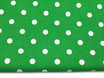 Polka, Punkte, weiß auf grün 17 mm
