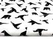 Schwarze Origami Vögel