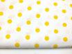 Polka, Punkte, gelb auf weiß 17 mm