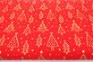 Goldene, glitzer Tannenbäume, auf rot, Weihnachten