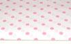 Polka, Punkte, rosa auf weiß, 17 mm
