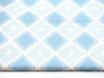 Canvas, Rauten, hellblau-blau