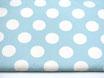Canvas, große Polka Dots  türkis