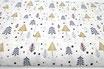 Graue, goldene Tannenbäume, glitzer, Weihnachten