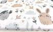 Hasen und Eulen im Wald, Premium Qualität