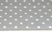 Polka, Punkte, weiß auf grau 17 mm