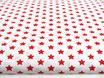 Kleine, rote Sterne auf weiß, 1 cm