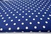 Polka, Punkte, weiß auf dunkelblau 17 mm