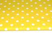 Polka, Punkte, weiß auf gelb 17 mm