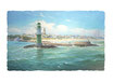 Hafeneinfahrt Warnemünde Panorama