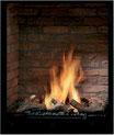 Brennraum mit Ziegelwänden