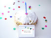 Schachtel: Geburtstags-Kuchen-Deko