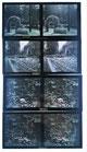 8 autochromes stéréographie. 6 x 13 cm.