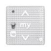 Somfy Smoove RS 100 io mit Diskret-/Normal-Schalter Silver Shine